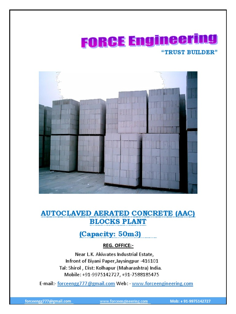 force engineering 50m3 project report fly ash brick