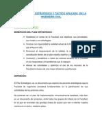 Planeamiento Estratégico y Táctico Aplicado en La Ingeniería Civil