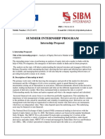 Internship Proposal Report
