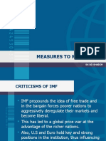 Measures to Reform Imf