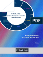 Microsoft Access 2010 Notes