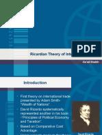 Ricardo's Theory