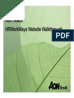 Hrworkways Walkthrough