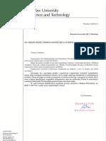 Przedluzenie Terminu - Extension Letter