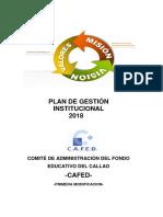 Plan de Gestion Institucional 2018