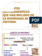 Corrientes Historiográficas Hist. 2009