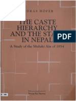 1979 Caste Hierarchy and the State of Nepal--Study of the Muluki Ain of 1854 by Hofer s