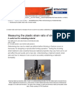 Measuring the Plastic Strain Ratio of Sheet Metals