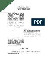 Complaint for Annulment of Extrajudicial Partition Fajardo - Copy