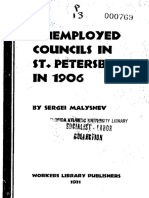 Sergei Malyshev, Unemployed Councils in St. Petersburg in 1906. New York, Workers Library, 1931.