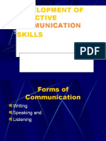 Development of Effective Communication Skills