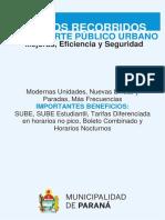 Recorridos de colectivos urbanos en Paraná 2018