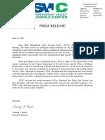 SVJC Press Release