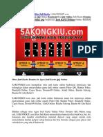 Situs Judi Kartu | SAKONGKIU.com