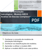Modelos de Simulação Hidrológica