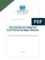 Aplicación de Equipos Eléctricos de Baja Tensión en La Industria(Manual Del Participante)