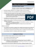 2018 Contribution Rebate Guide