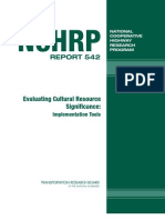 Evaluating Cultural Resource Significance