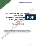 List of Narendra Modi Schemes English 1