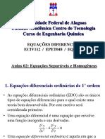 aula 02 - Equações Diferenciais de 1° ordem - separáveis e homogêneas