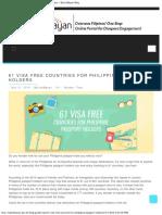 61 Visa Free Countries for Philippine Passport Holders