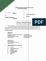 Pretrial Conference Order 6-20-18
