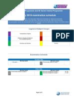 May 2019 IBDP Exam Schedule