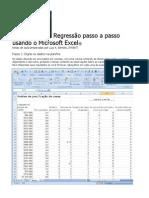 Regressão Usando Excel
