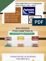 Sociedad Psicometrica y La Comisi n Internacional Del Test
