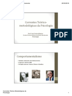 Aula 02 - Correntes Teórico Metodológicas Da Psicologia [Modo de Compatibilidade]