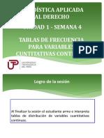 EST DER-U1 S4-Teoría-Tablas de Frecuencia Para Variables Cuantitativas Continuas