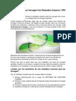Solución Para Las Verrugas Con Remedios Caseros | VPH