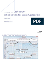 1.1 - Rhino-Grasshopper Introduction for Basic Operation