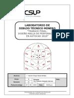 Trabajo Final Dibujo Tecnico Minero MALLA DE PERFORACIÓN