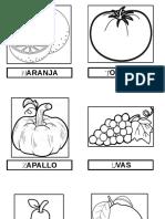 Láminas Frutas y Verduras Imp