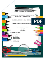 Trabajo Escrito de Estandares de Calidad Educativa