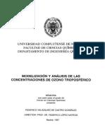 Modelizacion y Analisis de Ozono Troposferico