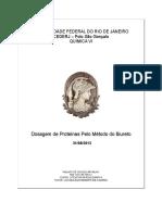 Relatório Pratica 03 - Dosagem de Proteinas Pelo Metodo Biureto