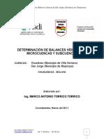 Determinacion Balances Hidricos
