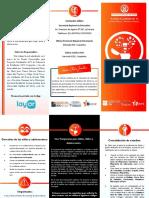 Tríptico Derecho Educación Chile UCN Clínica II Migrantes (2017)