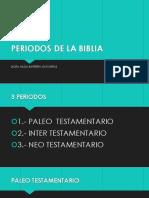 Periodos de La Biblia