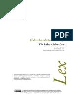 El Derecho Colectivo de Trabajo