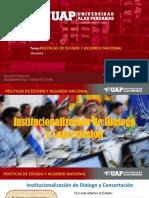 Institucionalizacion y Estado de Derecho Exposicion.