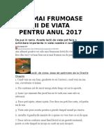 CELE MAI FRUMOASE LECTII DE VIATA PENTRU ANUL 2017.doc