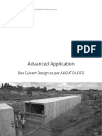 Box Culvert Design as Per AASHTO LRFD
