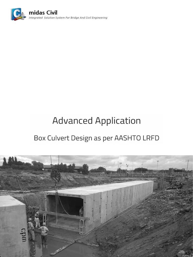 Box Culvert Design As Per Aashto Lrfd Cartesian Coordinate System Precast Concrete