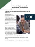 Peter Burke La Estrategia Del Miedo (Entrevista)