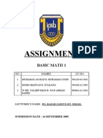 Assignment Math PPISMP 1