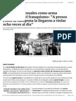 Los abusos sexuales como arma represiva en el franquismo