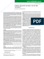 Asociación y valor predictivo del poder mecánico con los días libres de ventilación mecánica